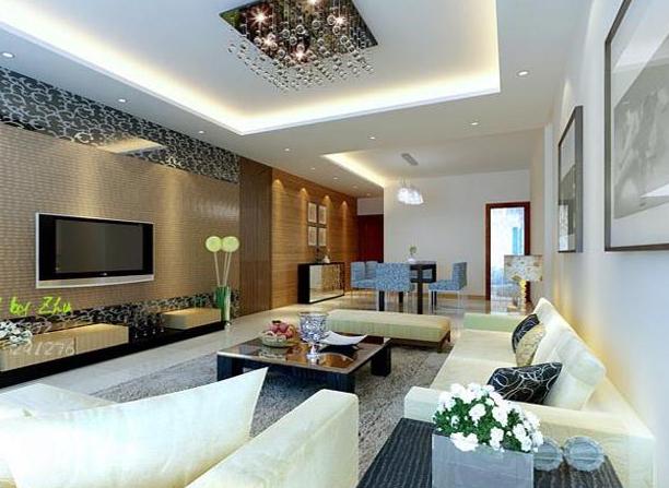 客厅装修效果图 现代简洁家装设计g53